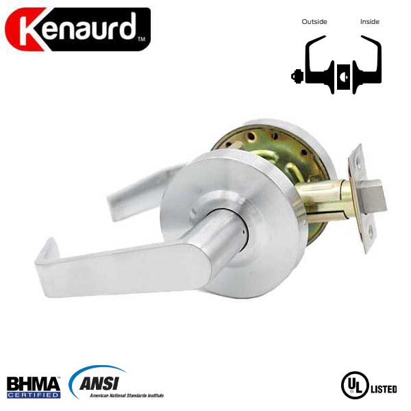 "Commercial Lever Handle - 2-3/4"" Standard Backest - Satin Chrome - Classroom - Grade 2"