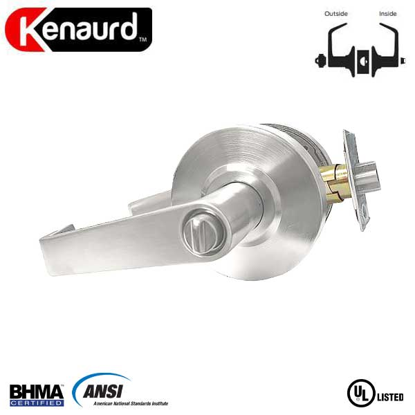 "Commercial Lever Handle - 2-3/4"" Standard Backest - Satin Chrome - Entrance - Grade 2"