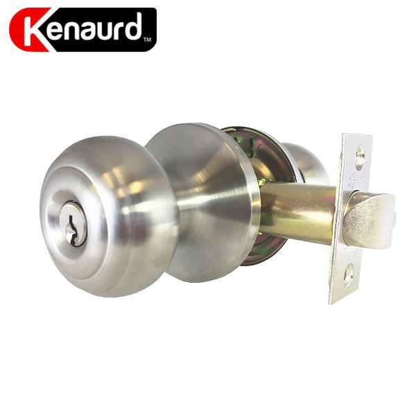 Premium Knobset Entrance Lock - Satin Chrome