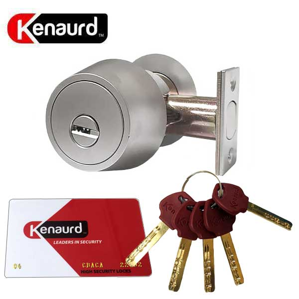 High Security Grade 1 Deadbolt - Satin Chrome -26D