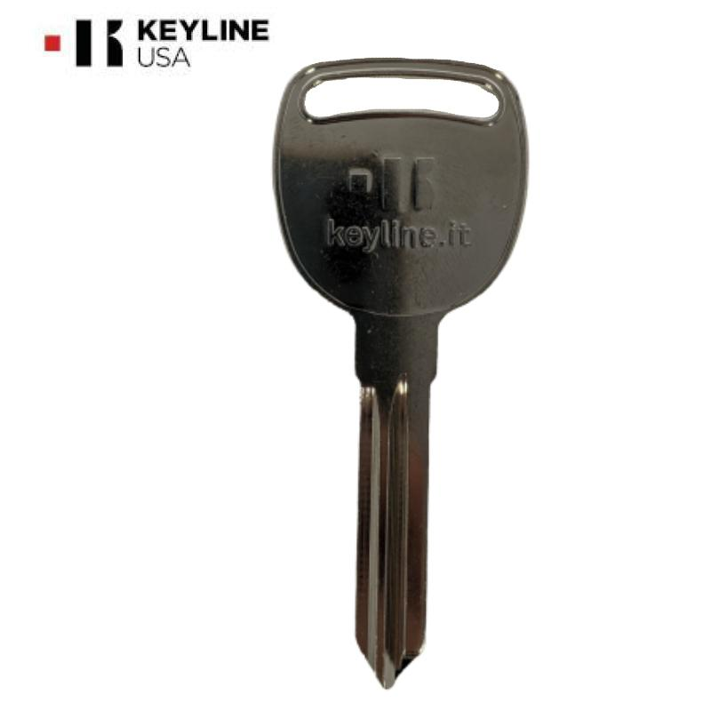 GM B106 / P1115 Chevrolet / Saturn Metal Key / Brass / Nickle Plated (KLN-B106)