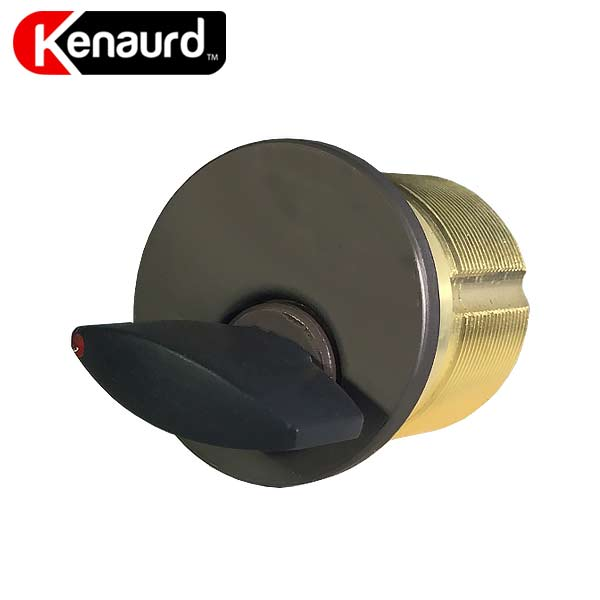 "Premium Thumb-Turn Mortise Cylinder - 1"" - 10B - Oil Rubbed Bronze / Black"