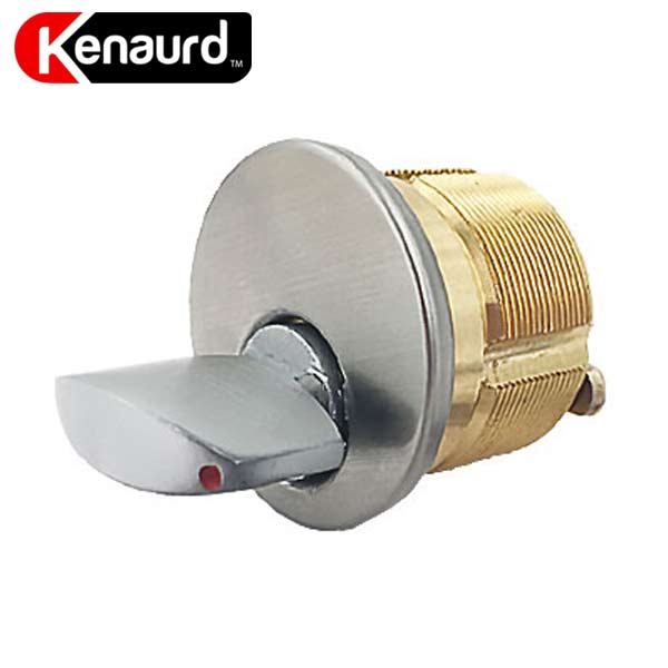 "Premium Thumb-Turn Mortise Cylinder - 1-1/4"" - 26D - Satin Chrome"