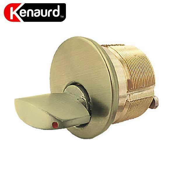 "Premium Thumb Turn Mortise Cylinder - 1-1/8"" - US3 - Polished Brass"