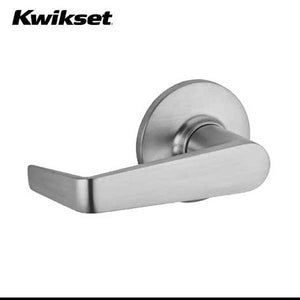 Kwikset - 438CNL - Carson Lever - Round Rose - Storeroom - 26D - Satin Chrome - SmartKey Technology - Grade 3