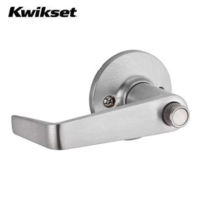 Kwikset - 438CNL - Carson Lever - Round Rose - Entrance - 26D - Satin Chrome - SmartKey Technology - Grade 3