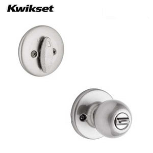 Kwikset - 690P Polo Combo Lockset – Knob & Deadbolt – Satin Nickel - Entrance - Grade 3