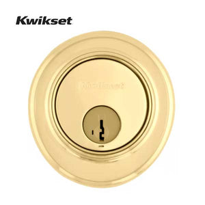 Kwikset - 816 - High Security Key Control Deadbolt - 3 - Polished Brass - SmartKey Technology - Grade 2
