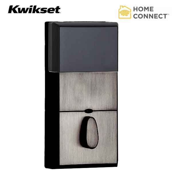 Kwikset - SmartCode 910 - Electronic Contemporary Deadbolt w/ Home Connect & Z-Wave - US11P - Venetian Bronze