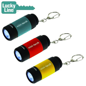LuckyLine - U11201 - LED USB Torch Light -  Assorted - 1 Pack