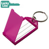 LuckyLine - 60500 - Key Tag with Flap & Split Ring - Assorted - 100 Pack
