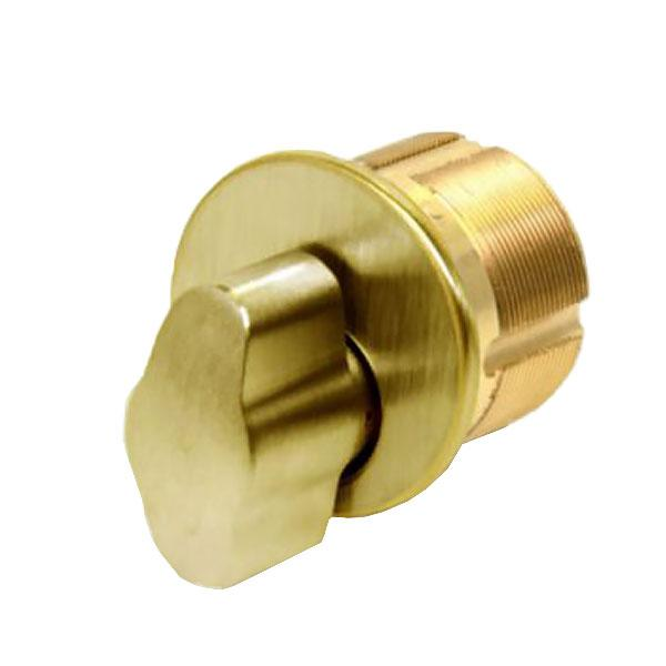 "GMS Thumb-Turn Mortise Cylinder - 1-1/8"" - US3 - Polished Brass"