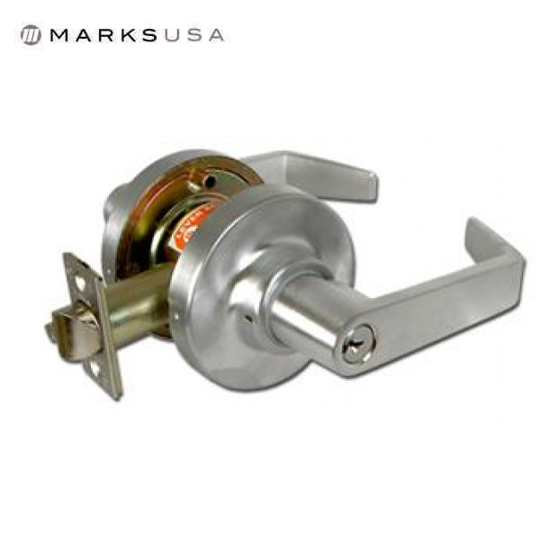 "Marks USA -195AB - Commercial Lever -  2 3/4"" Backset - 26D - Entrance - Grade 1"