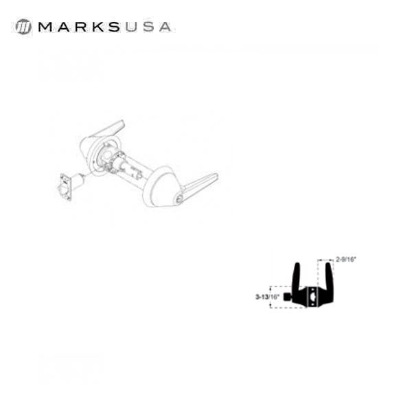 Marks USA -195SSS - Institutional Series Lifesaver Cylindrical Leverset - Classroom - Grade 1