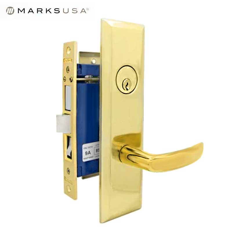 "Marks USA - 9NY96A-3  - New York Mortise Lever Lock - U3 - 1-1/4"" X 8""- Entrance - LH"