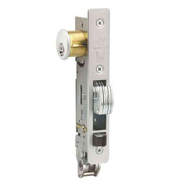 "Adams Rite - MS+ Deadlock - MS1890 - 1-1/8"" Backset - RH or LHR - ANSI Size - Hook Bolt & Latch - Flat Faceplate - Flat/Standard Jamb - Aluminum - Metal Door"