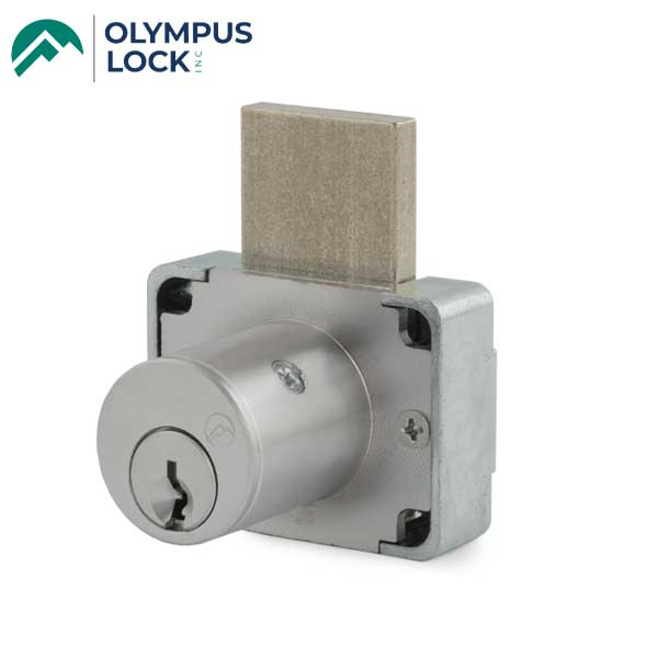 Olympus - 200DW - Cabinet Drawer Deadbolt Lock - N Series National - 26D - Satin Chrome - KA 107 - Grade 1