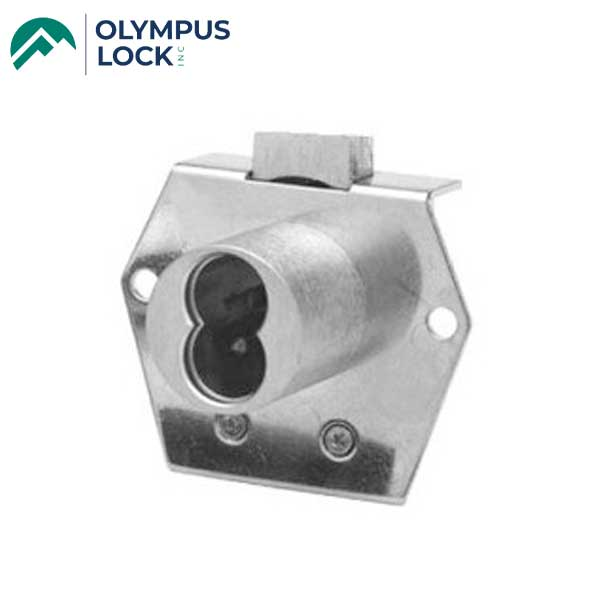 Olympus - 725RD - IC Core Rim Mount Deadbolt Cabinet Drawer Lock - VH - BEST SFIC - 26D - Satin Chrome - Grade 1