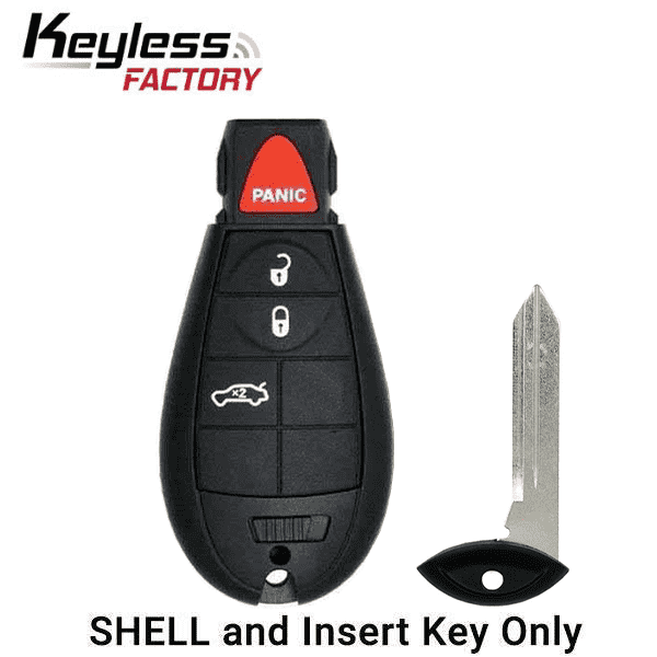 2008-2019 Chrysler Dodge Jeep VW 4-Button Fobik Key SHELL for IYZ-C01C (ORS-FBK-02)