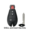 2008-2019 Chrysler Dodge Jeep VW 4-Button Fobik Key SHELL for IYZ-C01C (ORS-FBK-04)