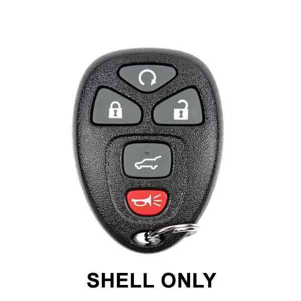 2007-2017  GM / 5-Button Keyless Entry Remote SHELL for OUC60270 / OUC60221 (ORS-GM-1223)
