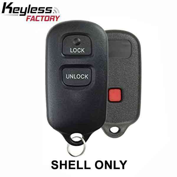1995 - 2006  Toyota / Scion / 3 - Button Keyless Entry Remote SHELL for BAB237131-056
