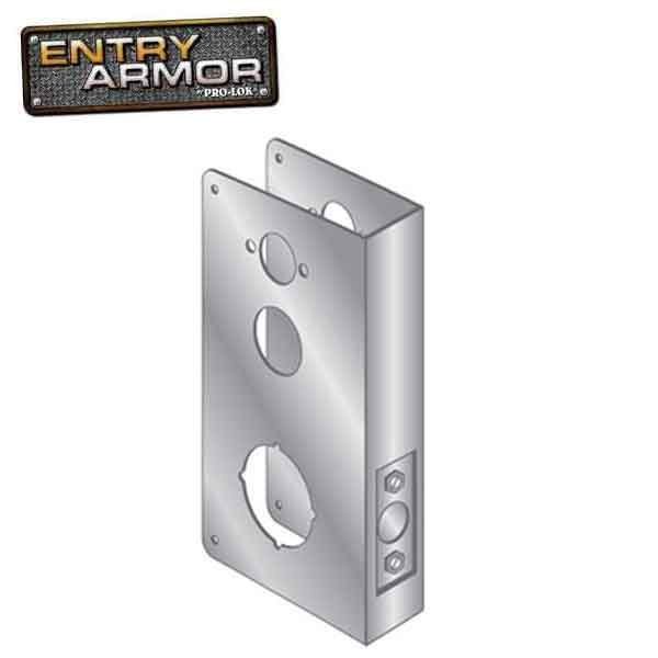 Entry Armor - Wrap Plate for Simplex & Kaba Mortise Locks