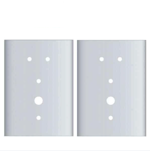 Entry Armor - Mortise Flat Plates for Kaba E-Plex 2000 Series - Set Of 2