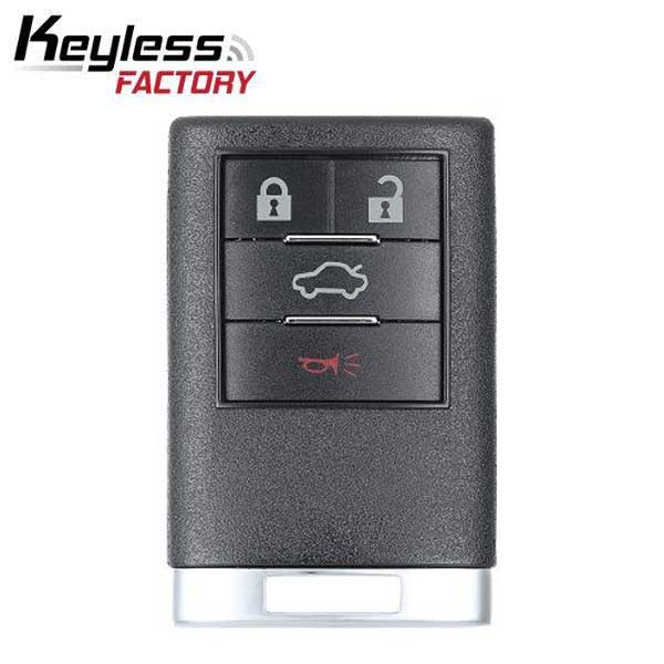 2008-2016 Cadillac CTS DTS  / 4-Button Keyless Entry Remote / PN: 22889449 / OUC6000066 (R-G-CAD-4B-B)