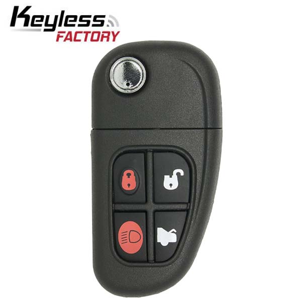 2001-2008 Jaguar / 4-Button Flip-Key / NHVWB1U241 / (RFK-JAG-NHV)