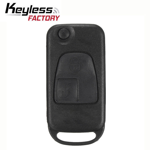 1997-2001 Mercedes SL / 2-Button Flip Key / HU39 / PCF7935 44 Chip for KR55 Key Maker (RFK-MB-003)