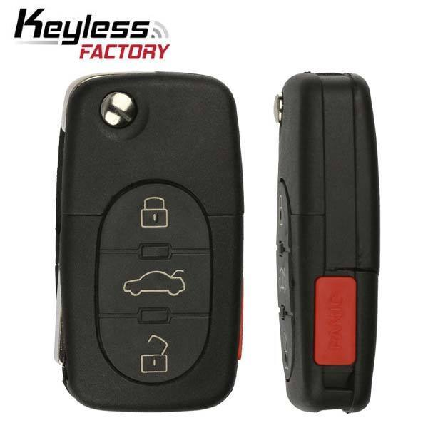 1997-2006 Audi / 4-Button Flip Key / MYT8Z0837231 (RK-AU-231)