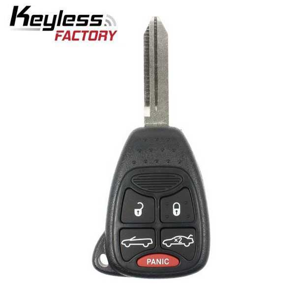 2007-2014 Chrysler 200 Sebring Convertible / 5-Button Remote Head Key / OHT692427AA / (RK-CHY-OHT-7)