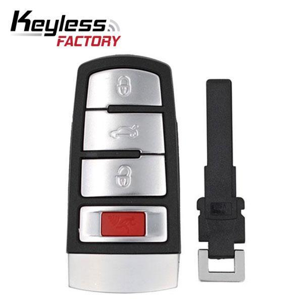 3 X 2006-2015 Volkswagen CC Passat / 4-Button Smart Key / PN: HLO 3C0 959 752 N / NBG009066T (BUNDLE OF 3)
