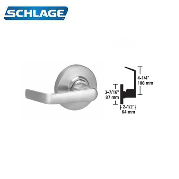 Schlage - AL80JD SAT - Commercial Lever Handle - Saturn Levers - LFIC IC Core - 626 - Satin Chrome - Storeroom - Grade 2