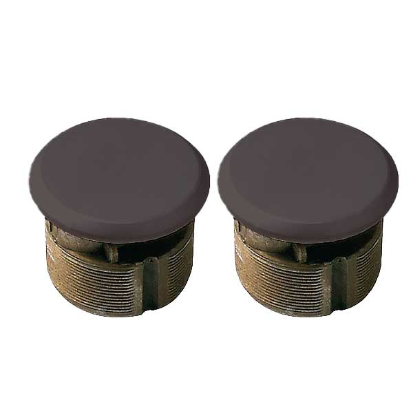 "Premium Zinc Mortise Dummy Cylinder - 1"" - Duranodic Anodized Bronze ( Pack of 2)"