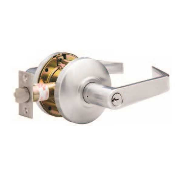 "TownSteel - CSRC-86-S - Commercial Lever Handle  - Clutch Lever  - 2-3/4 "" Backset - Satin Chrome - Storeroom -  Grade 2"