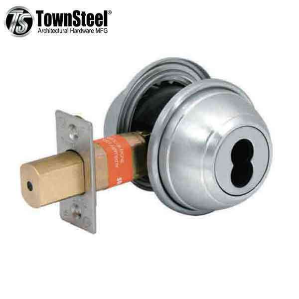 "TownSteel - DBDI-61 - Commercial Deadbolt - Single - IC Core (SFIC)  - 2-3/4 "" Backset - Satin Chrome -  Grade 1"