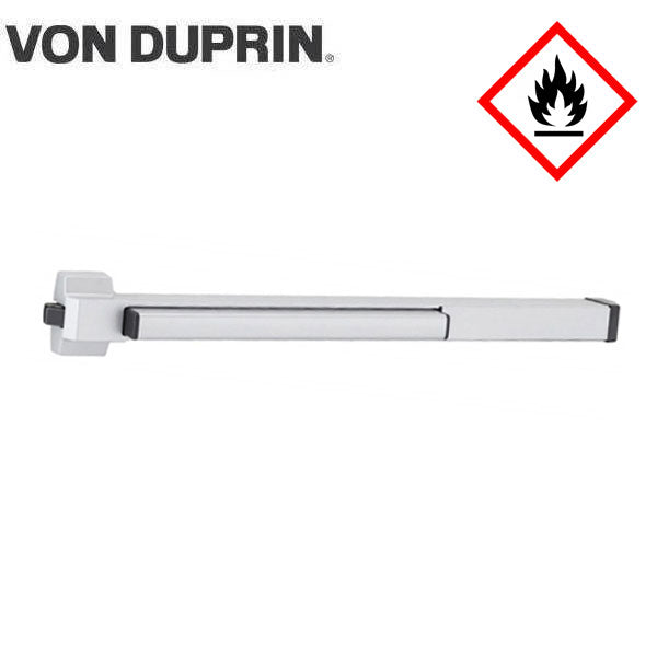 Von Duprin - 22EOF - Rim Exit Device - Exit Only - No Trim - Aluminum Finish - 3 Foot - Fire Rated