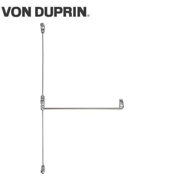 Von Duprin - 8827L - Surface Mounted Vertical Rod Exit Device - Exit Only - No Trim - Satin Chrome - 4 Foot - RHR