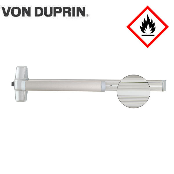 Von Duprin - 99EOF - Rim Exit Device - Exit Only - No Trim - Satin Chrome Finish - 3 Foot - Fire Rated