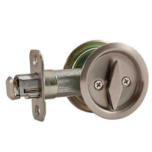 Weiser - WR1031 5 V SL - Round Pocket Door Lock Latch - Privacy - Antique Brass