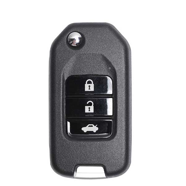Honda Style / 3-Button Universal Remote Flip Key for VVDI Key Tool (Wired)