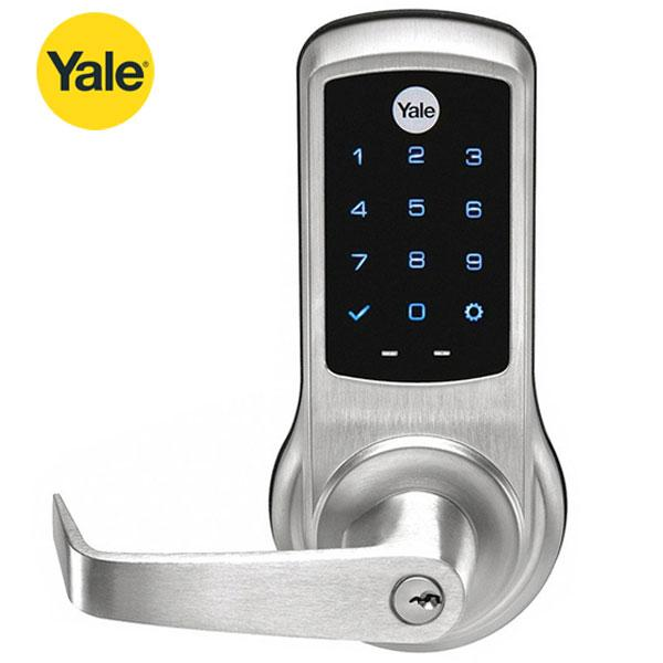 Yale NTB620 Electronic Cylindrical Lever Lock - w/ NextTouch Capacitive Touchscreen - Schlage C - Satin Chrome - w/ Key Override