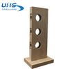 Lock Display with 3 Holes - Natural Wood