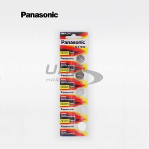 Panasonic CR2025 3V Lithium Battery 5-Pack