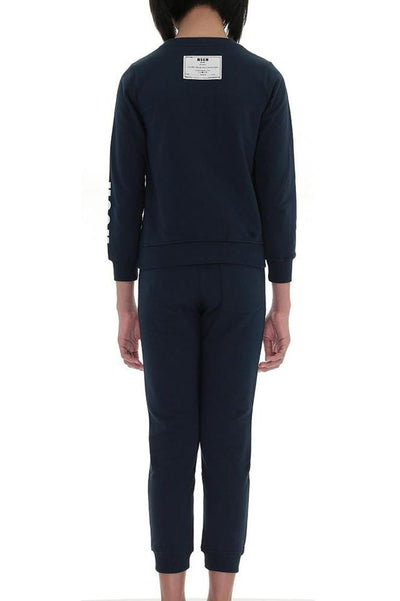 MSGM GIRL NAVY BLUE SWEATPANTS