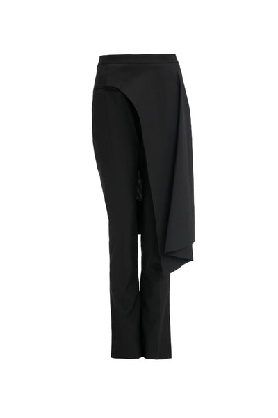 BALENCIAGA BLACK WOMEN TROUSERS