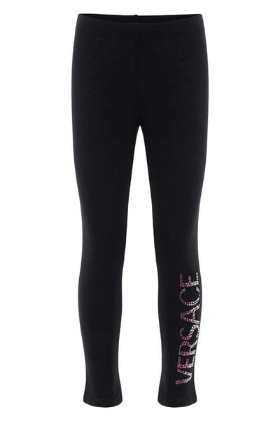 Versace Rhinestone-Encrusted Cotton Leggings
