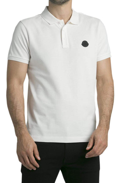 MONCLER Cotton Polo T-Shirt White